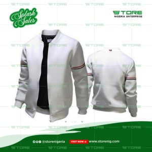 Round Neck White Jacket